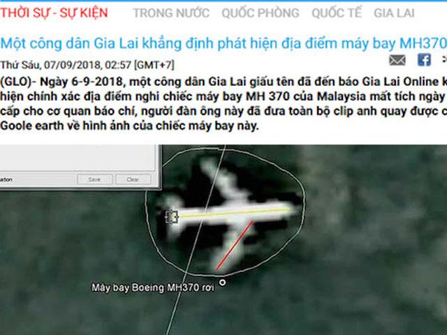 """Báo Gia Lai hé lộ thông tin về người tuyên bố """"biết nơi MH370 rơi"""""""