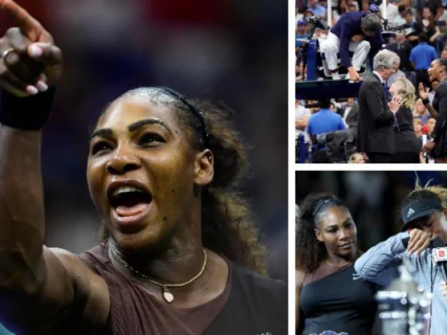 """Serena ăn phạt hy hữu chung kết US Open, gọi trọng tài là """"kẻ cắp"""""""