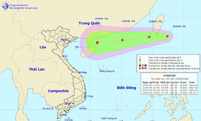 Siêu bão MANGKHUT cùng áp thấp nhiệt đới đang hướng vào Biển Đông - 1