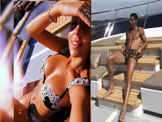 """Ronaldo hững hờ """"tự sướng"""" bỏ mặc bồ xinh khoe thân nóng bỏng"""