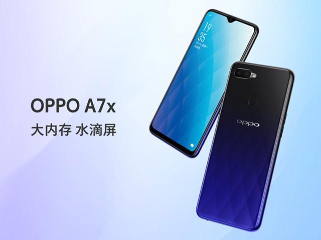 Oppo A7x - phiên bản cải tiến của Oppo F9 ra mắt tại Trung Quốc