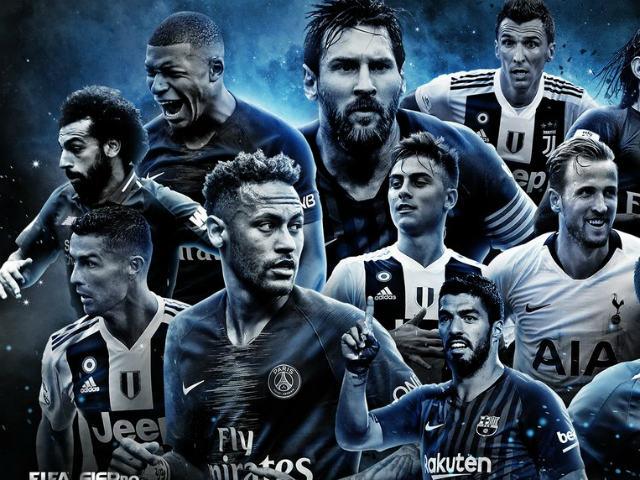 """Đội hình tiêu biểu 2018: Ronaldo và 53 siêu ứng viên """"đè bẹp"""" Messi?"""