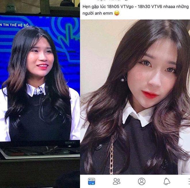 Hot girl Hà thành khiến dân mạng bất ngờ với nhan sắc thật trên truyền hình - 1