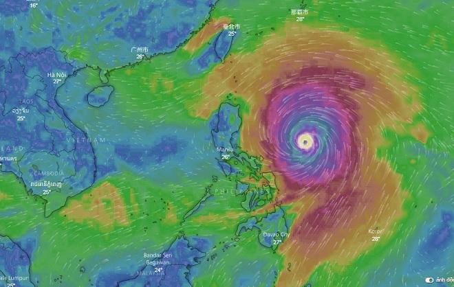 Kịch bản nguy hiểm khi siêu bão MANGKHUT đổ bộ vịnh Bắc Bộ - 1