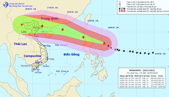 Chịu ảnh hưởng trực tiếp của siêu bão MANGKHUT, Hà Nội ra công điện khẩn - 1