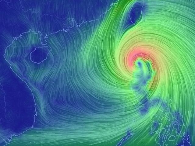Siêu bão MANGKHUT đang quần thảo đảo Lu-Dông, sắp vào Biển Đông