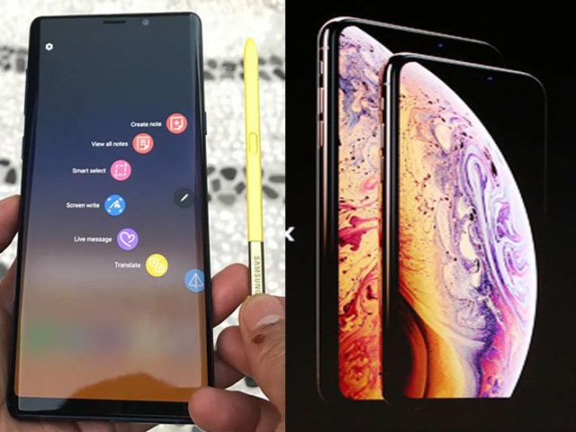 So sánh iPhone Xs Max và Galaxy Note 9: Song long tranh bá
