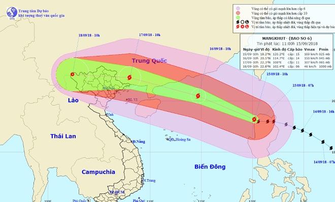 Siêu bão MANGKHUT giật trên cấp 17, chính thức vào Biển Đông - 1