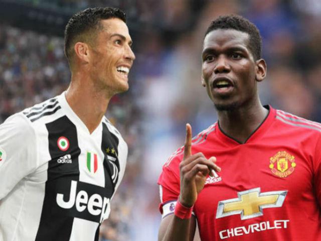 """Ronaldo sợ Pogba về Juventus soán ngôi: """"Rút lõi"""" Real đàn em thân tín"""