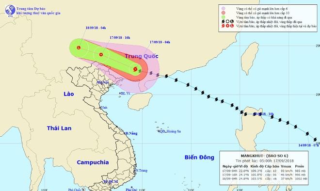 Dự báo mới nhất về bão MANGKHUT và mưa lớn ở miền Bắc - 1