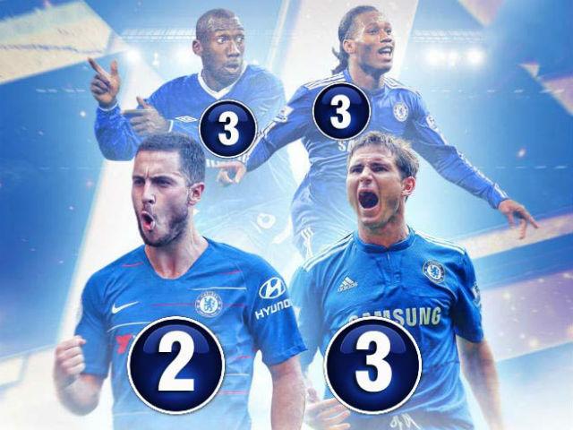 """Chấm điểm siêu sao vòng 5 Ngoại hạng Anh: Hazard sánh vai 3 """"vua hat-trick"""""""