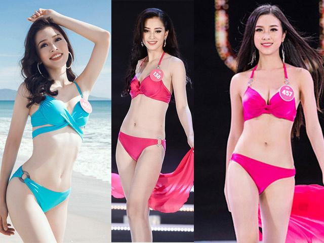 Ảnh bikini quyến rũ mê hồn của 3 tân Hoa, Á hậu Việt Nam