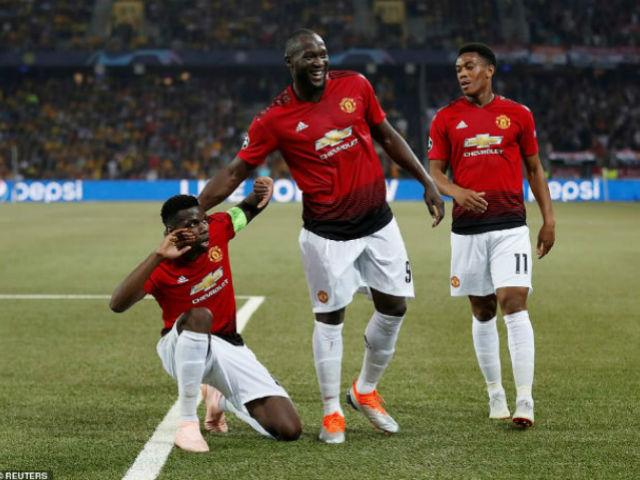 MU ra quân cúp C1: Tuyệt đỉnh Pogba, đè Juventus chiếm ngôi đầu bảng