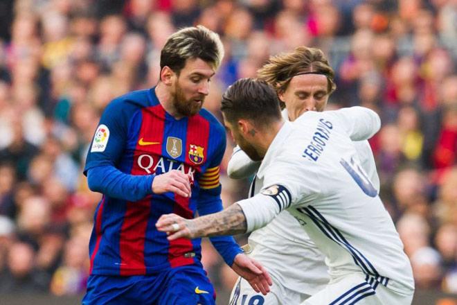 """Barca - Messi hùng mạnh: Thống trị Liga, đè """"Vua cúp C1"""" Real - 1"""