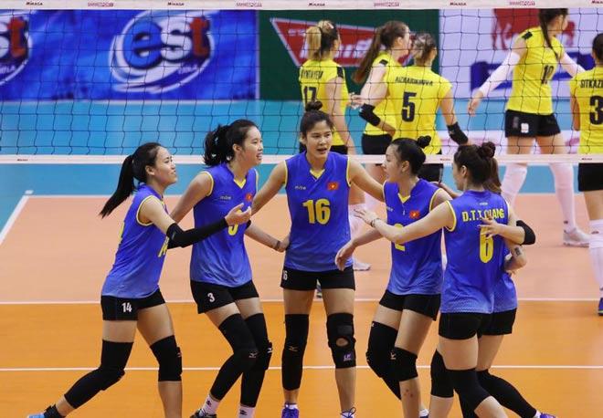 Bóng chuyền nữ: Hoa khôi Kim Thanh rực sáng, Việt Nam đòi nợ Kazakhstan - 1