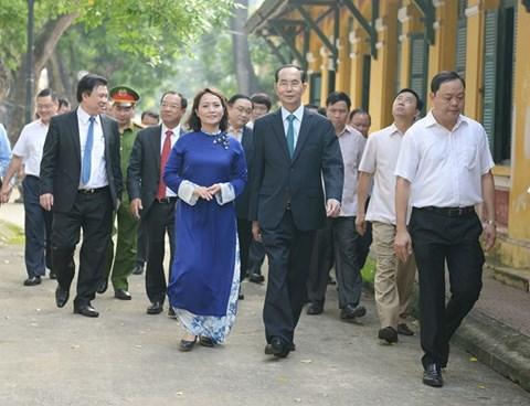 Ngôi trường lần cuối Chủ tịch nước Trần Đại Quang đánh trống khai giảng - 1