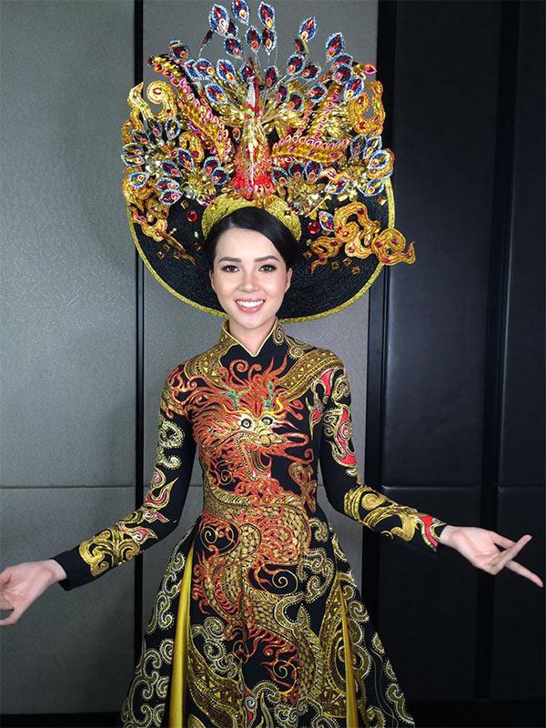 Huỳnh Thuý Vi đạt danh hiệu Á quân phần thi trang phục truyền thống tại Miss Asia Pacific International - 1