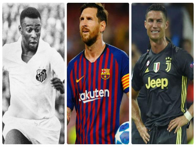 """Ronaldo """"sa lầy"""" ở Juventus: Chạnh lòng nhìn Messi thách thức Vua Pele"""
