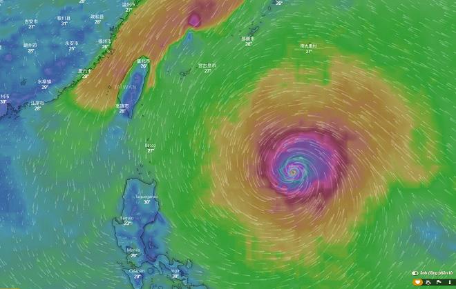 Siêu bão Trami xuất hiện gần Biển Đông - 1
