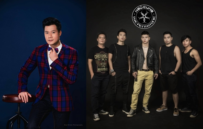 Quang Dũng lần đầu chung sân khấu cùng nhóm rock Ngũ Cung - 1