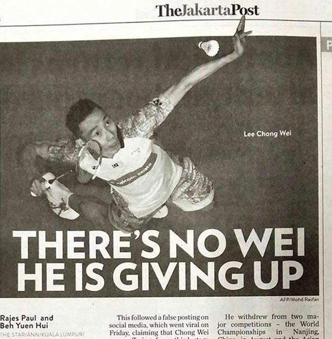 Huyền thoại cầu lông Lee Chong Wei bị ung thư: Hãy chuẩn bị điều tệ nhất - 1
