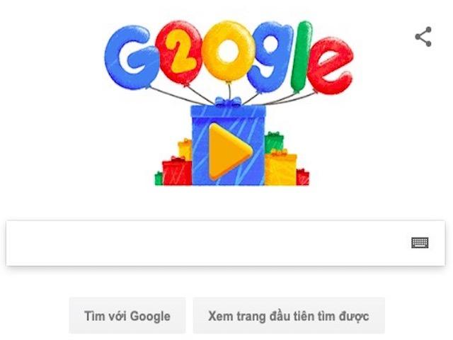 """Google tròn 20 tuổi và những con số """"sốc tới óc"""""""