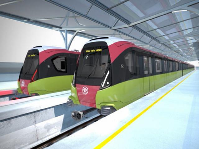 Lộ diện đoàn tàu chạy tuyến đường sắt Nhổn-ga Hà Nội cuối năm 2020