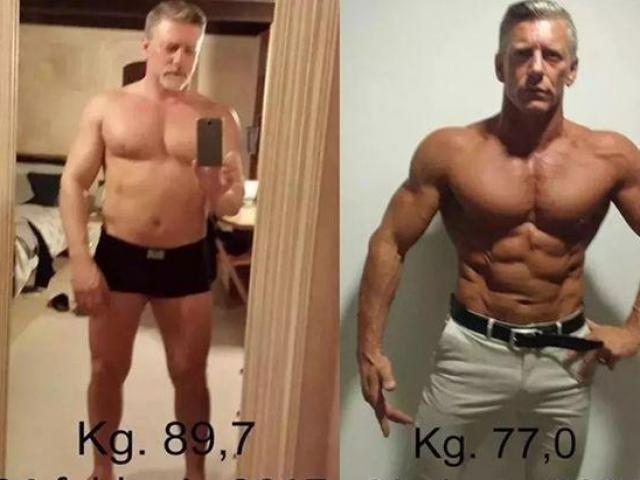 """Ông bố U60 """"bụng bia"""": 4 tháng tập thể hình cơ bắp vạm vỡ hơn con trai"""