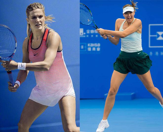 """Mỹ nhân tennis: Bouchard """"không quần"""" táo bạo, Sharapova cực """"an toàn"""" - 1"""