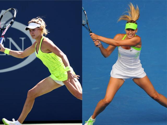 """Mỹ nhân tennis: Bouchard """"không quần"""" táo bạo, Sharapova cực """"an toàn"""""""