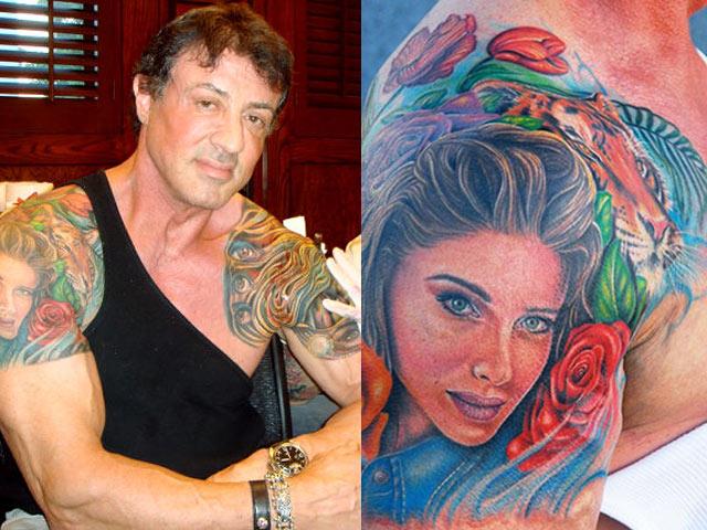 """3 hình xăm đặc biệt nhất trên cơ bắp """"anh hùng Rambo"""" 72 tuổi"""