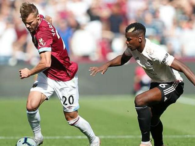"""West Ham - MU: Choáng váng 3 """"cú đấm"""" kết liễu"""