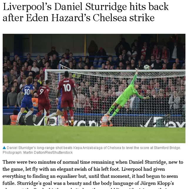 "Chelsea hòa Liverpool: Hazard ""đẳng cấp khác"" vượt trội Salah - 1"