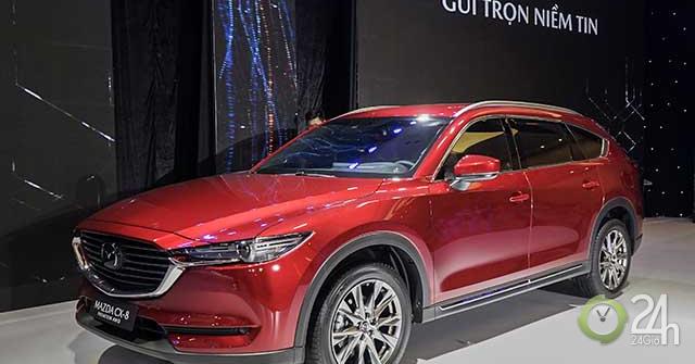 Cận cảnh chiếc SUV Mazda CX-8 tại buổi ra mắt khu vực phía Nam