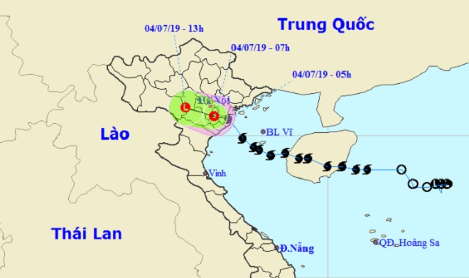 Tin mới nhất về bão số 2 đổ bộ đất liền Hải Phòng-Nam Định - 1