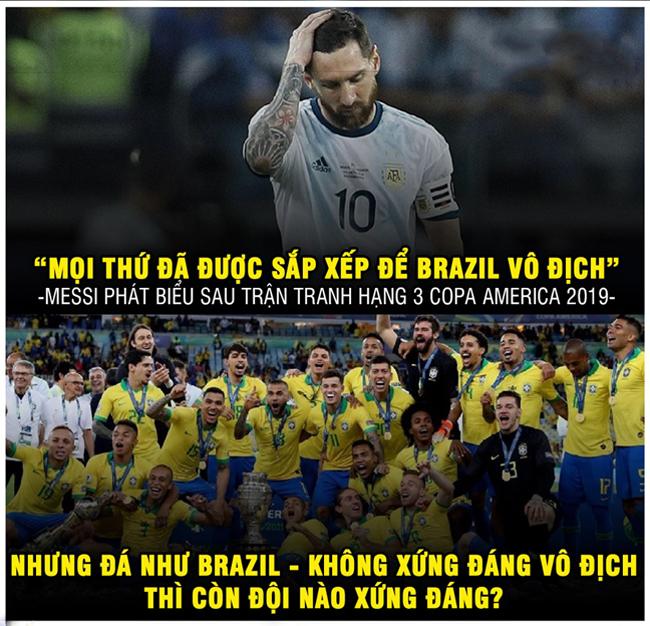 """Messi """"cay cú"""" phát biểu sau trận tranh hạng 3."""