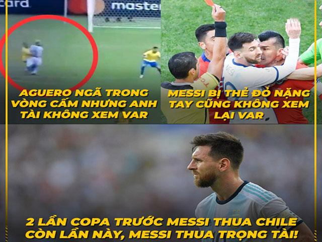 Ảnh chế Brazil thống trị Copa America, Messi đổ lỗi do trọng tài