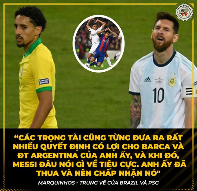 Các ngôi sao phản pháo lại chỉ trích của Messi nhắm vào trọng tài.