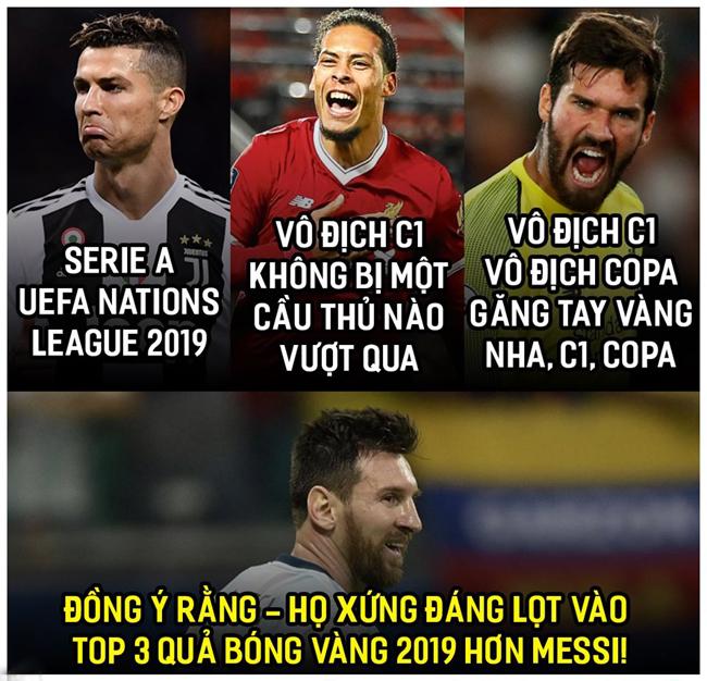 Liệu Messi có còn cơ hội đoạt quả bóng vàng 2019.