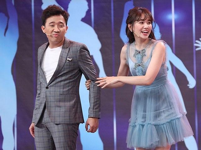 """Phản ứng của Trấn Thành khi Hari Won nhận """"đẹp đôi"""" với Trường Giang"""