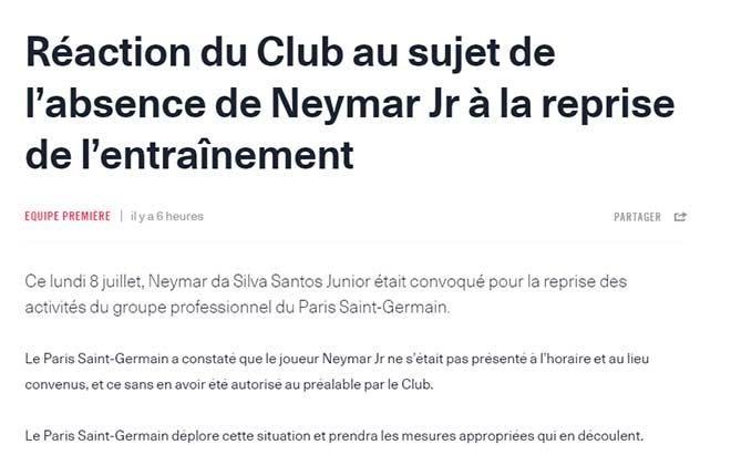 """Neymar """"giở trò bẩn"""" để về Barca: PSG giận tím mặt, thề trừng phạt thích đáng - 1"""