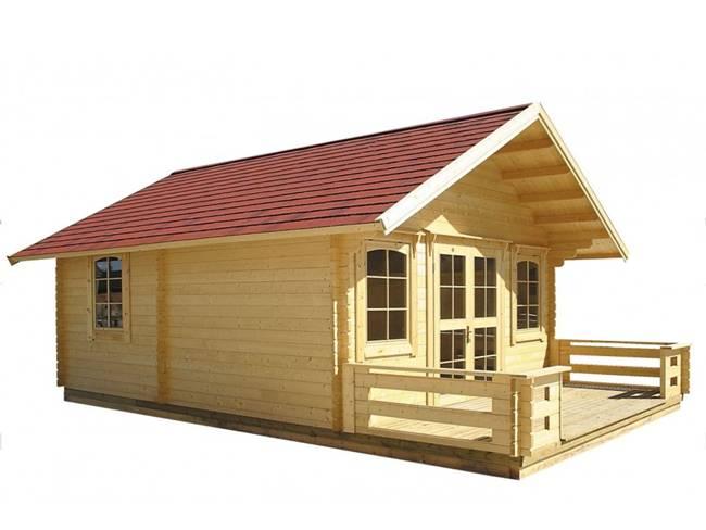 """Trên trang Amazon đang bán kiểu nhà tự lắp ghép phù hợp cho kiểu """"cabin nghỉ dưỡng""""."""