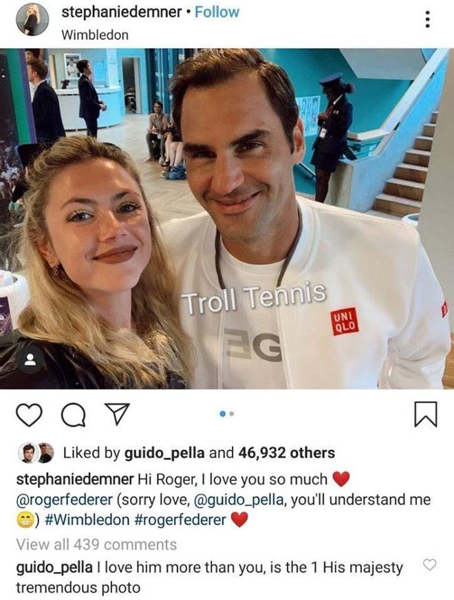 """Federer được vợ tay vợt nói lời yêu ở Wimbledon: Màn """"đánh ghen"""" ngã ngửa - 1"""