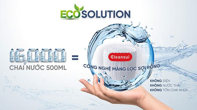 Tiết kiệm 16,000 chai nước mỗi năm chỉ nhờ 1 bộ lọc Cleansui - 1
