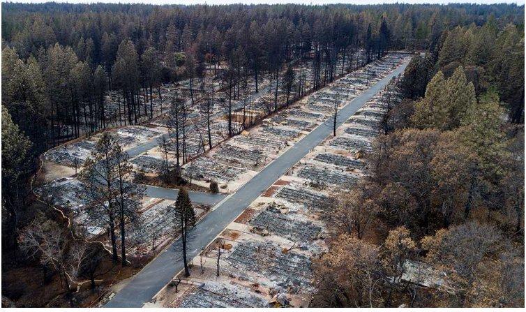 """Thị trấn mang tên """"Thiên đường"""" tại Mỹ mất 90% dân số, hóa """"địa ngục"""" chỉ sau 1 vụ cháy rừng - 1"""