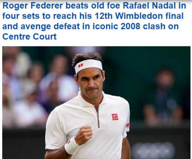 """Tuyệt đỉnh Federer - Nadal ở Wimbledon: Báo chí thế giới bái phục """"Tàu tốc hành"""" - 1"""