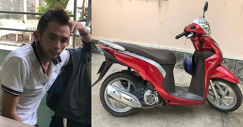 Thấy kẻ trộm xe máy, người phụ nữ chạy bộ đuổi theo - 1