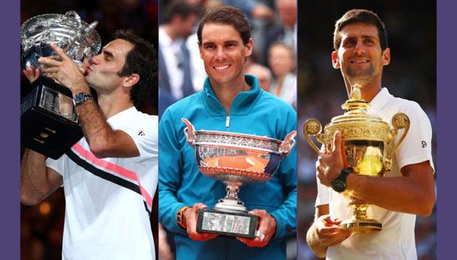 """""""Vua"""" Grand Slam: Thành trì Federer - Nadal vỡ vụn vì siêu bão Djokovic? - 1"""