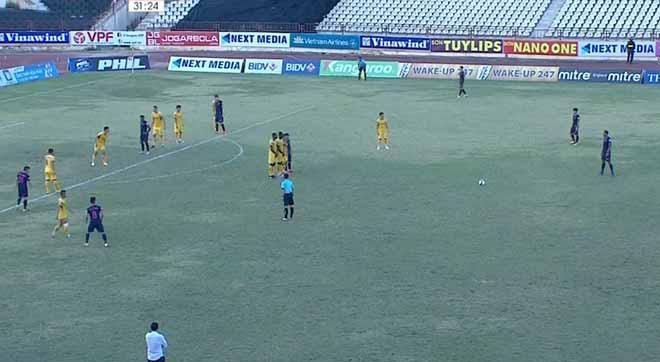 Sông Lam Nghệ An - Sài Gòn: Rượt đuổi 4 bàn, cay đắng quả 11m phút 90+1 - 1