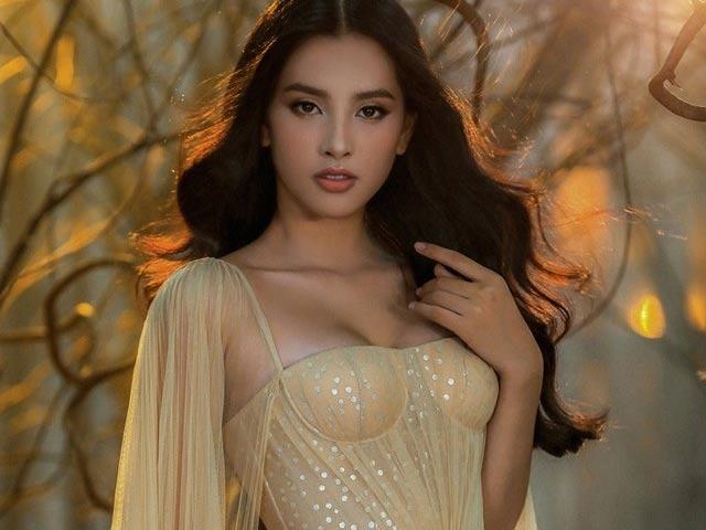 Tiểu Vy đẹp tựa nữ thần với váy cưới corset cúp ngực